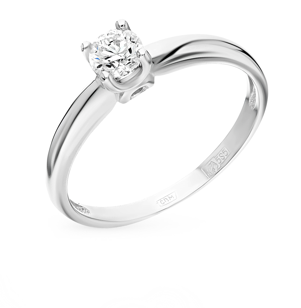 Золотое кольцо SUNLIGHT «Бриллианты Якутии» 0920-K5W-01  белое ... 940e6c7d4bf