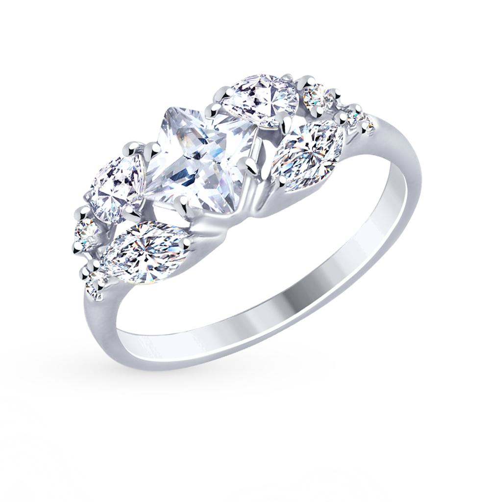 серебряное кольцо с фианитами SOKOLOV 94012484