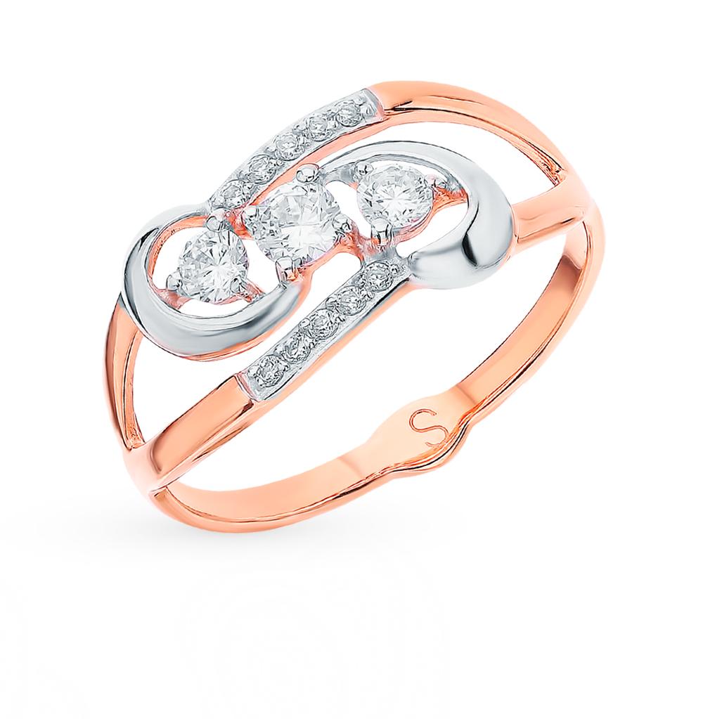 золотое кольцо с фианитами SOKOLOV 018139*
