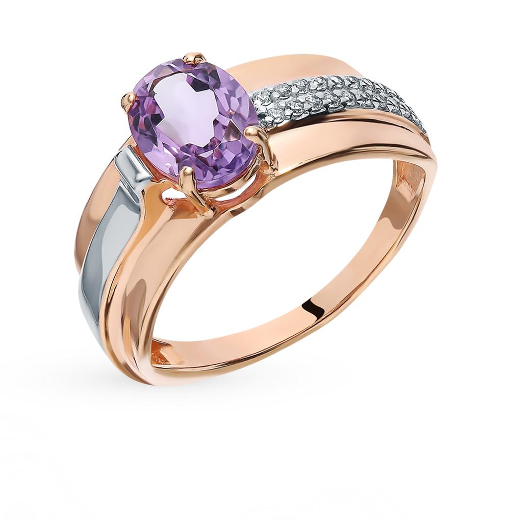 Золотое кольцо с аметистом в Екатеринбурге