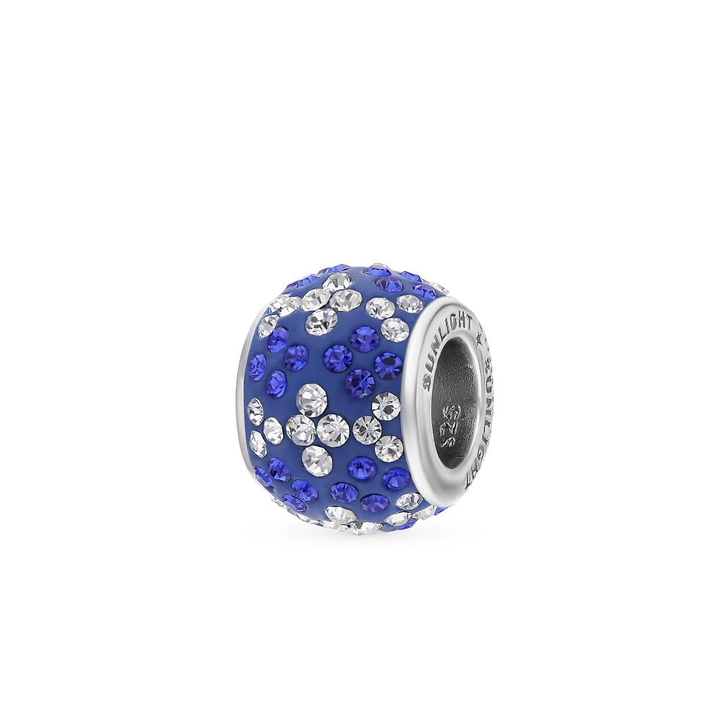 серебряная подвеска с кристаллами swarovski