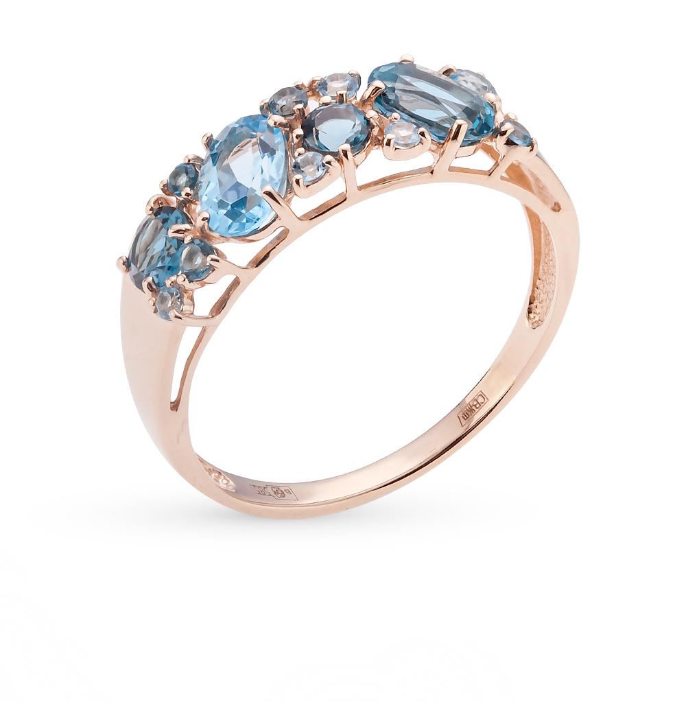 золотое кольцо с топазами SOKOLOV 714174*