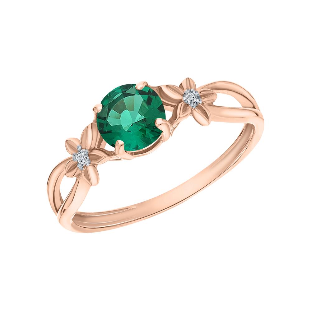 Золотое кольцо с изумрудом и бриллиантами в Екатеринбурге