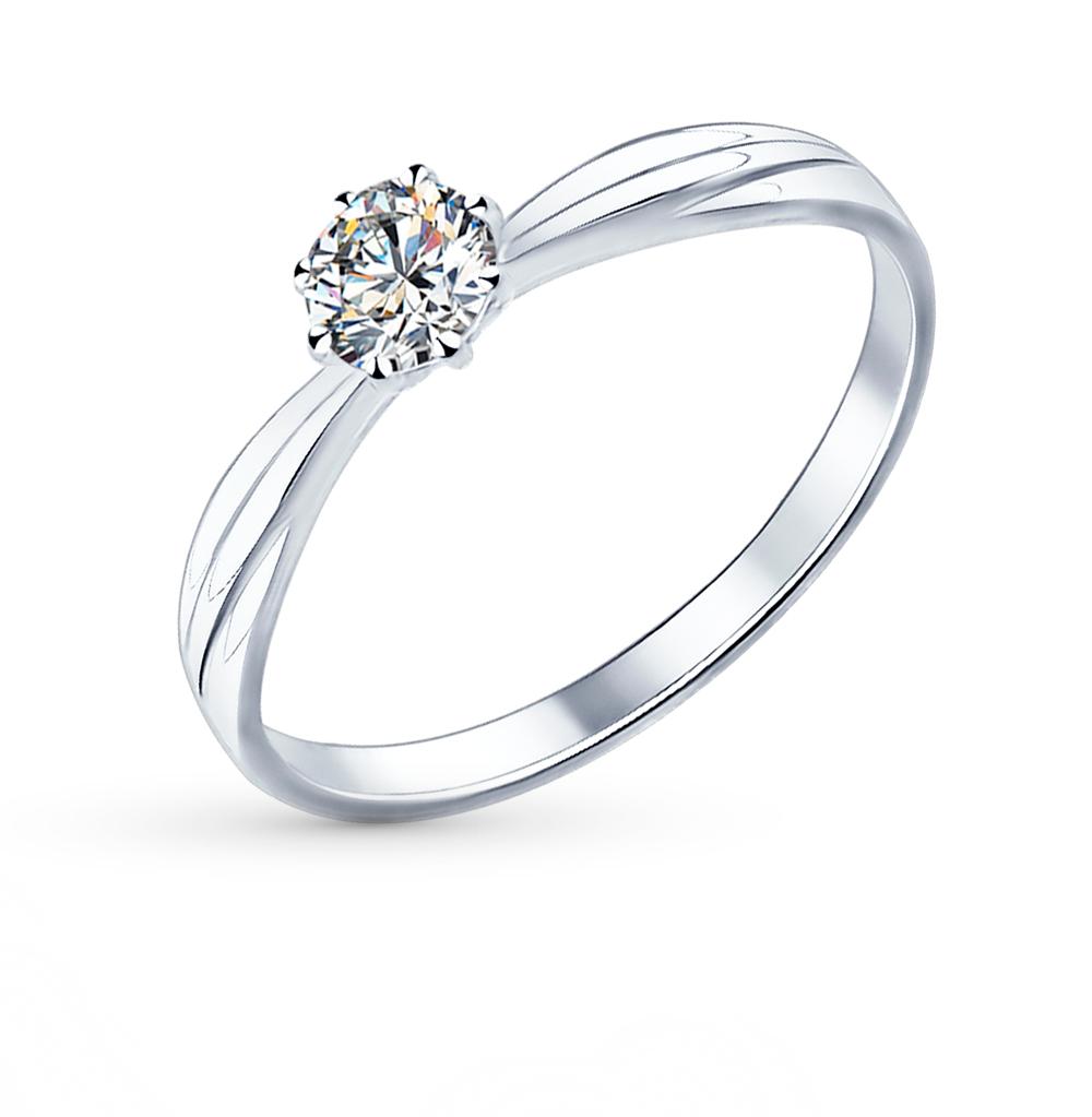 серебряное кольцо с фианитами SOKOLOV 89010009