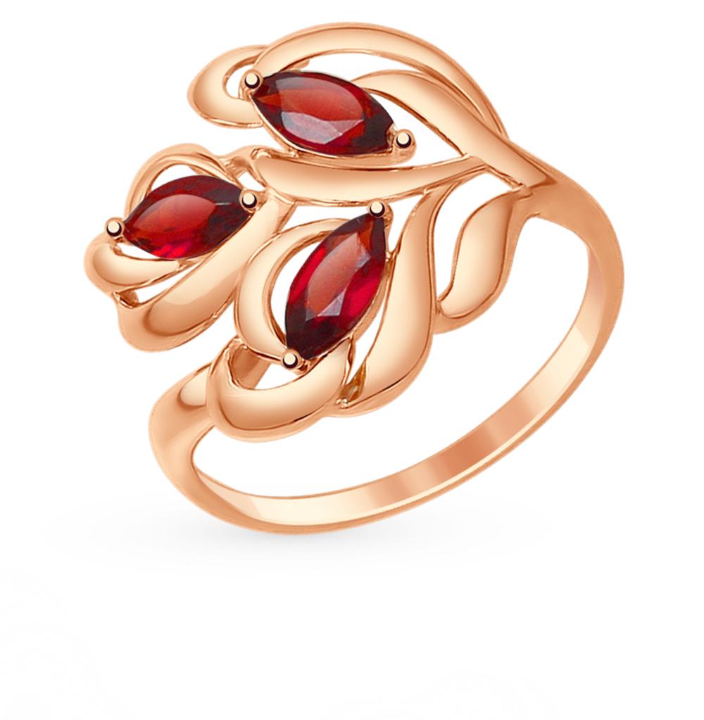 золотое кольцо с гранатом SOKOLOV 714775*