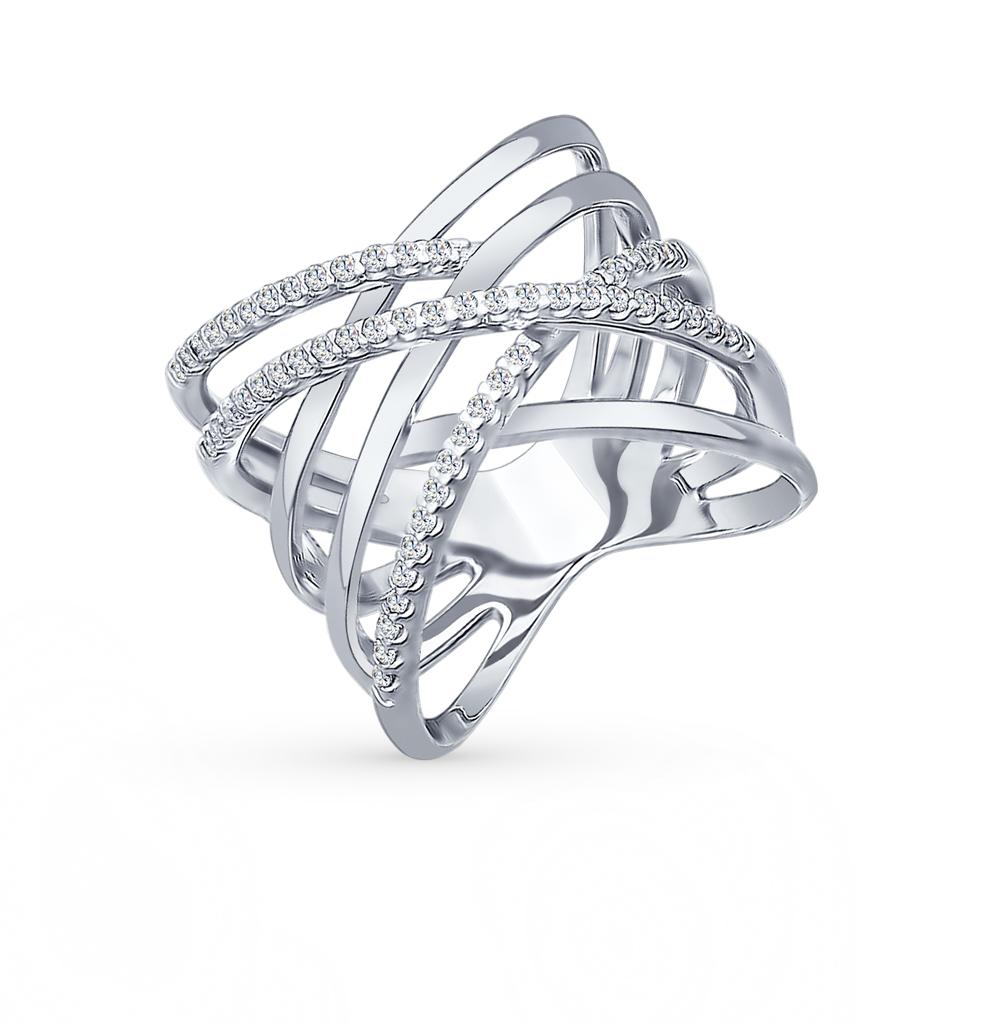 серебряное кольцо с фианитами SOKOLOV 94012042