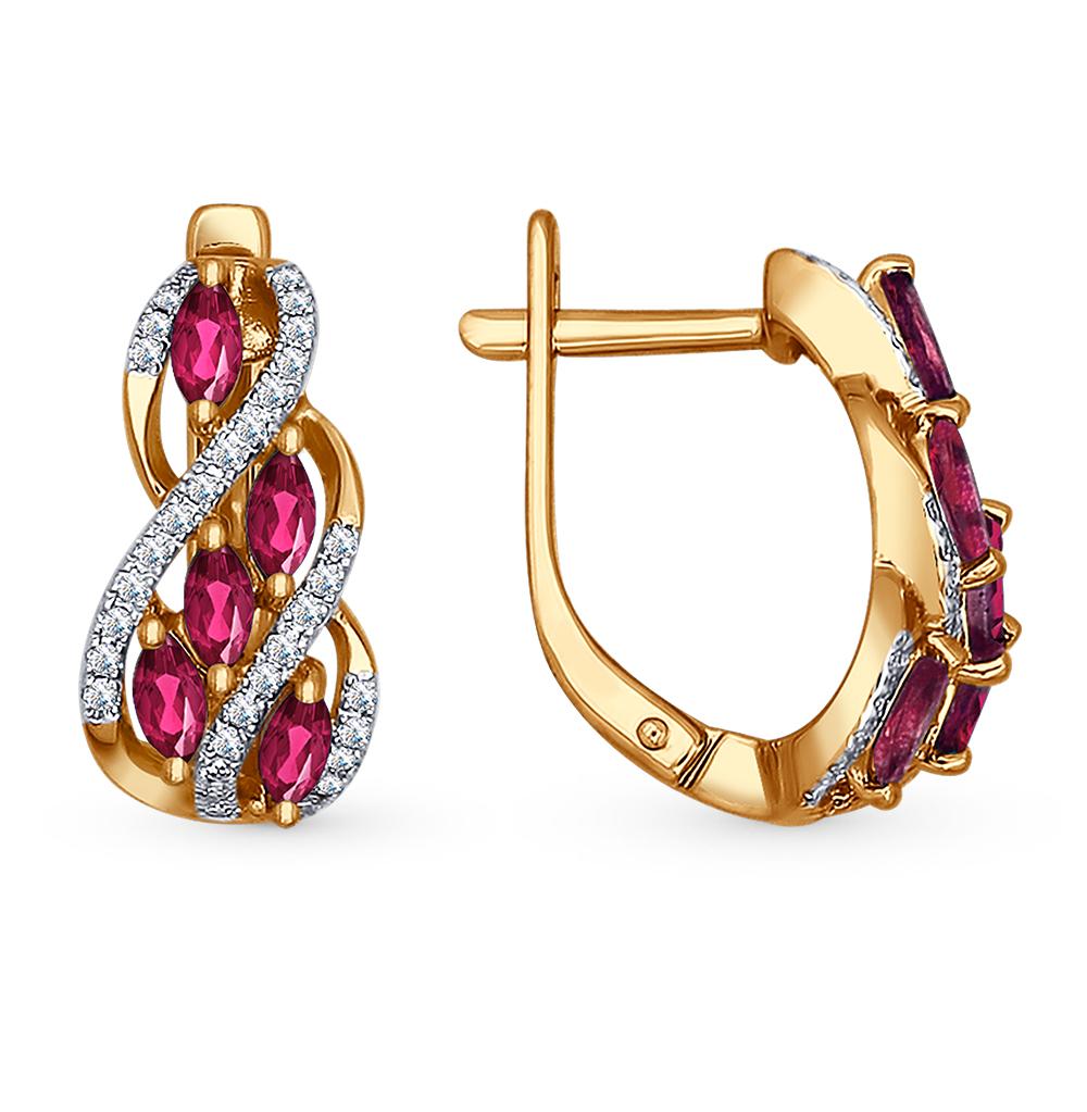 Фото «золото серьги с рубинами и бриллиантами»