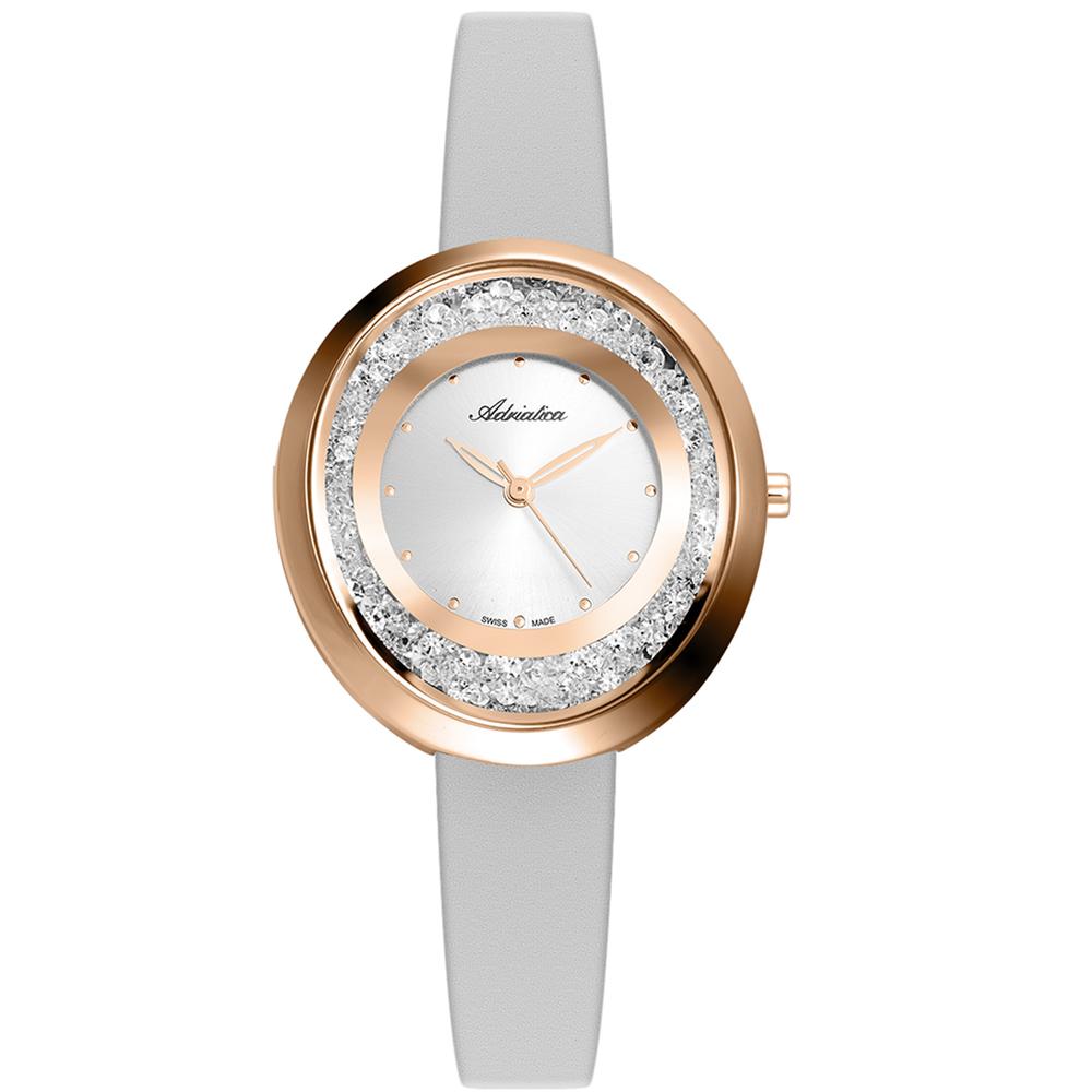Женские часы A3771.9243QZ на кожаном ремешке с минеральным стеклом