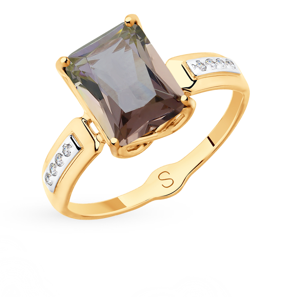 Золотое кольцо с ситаллами SOKOLOV 715387* в Екатеринбурге