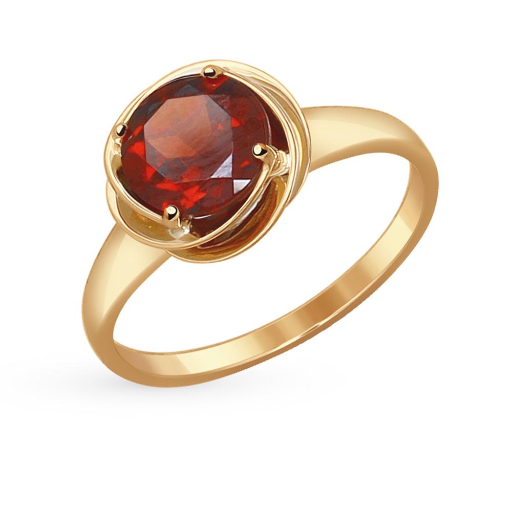 золотое кольцо с гранатом SOKOLOV 714508*