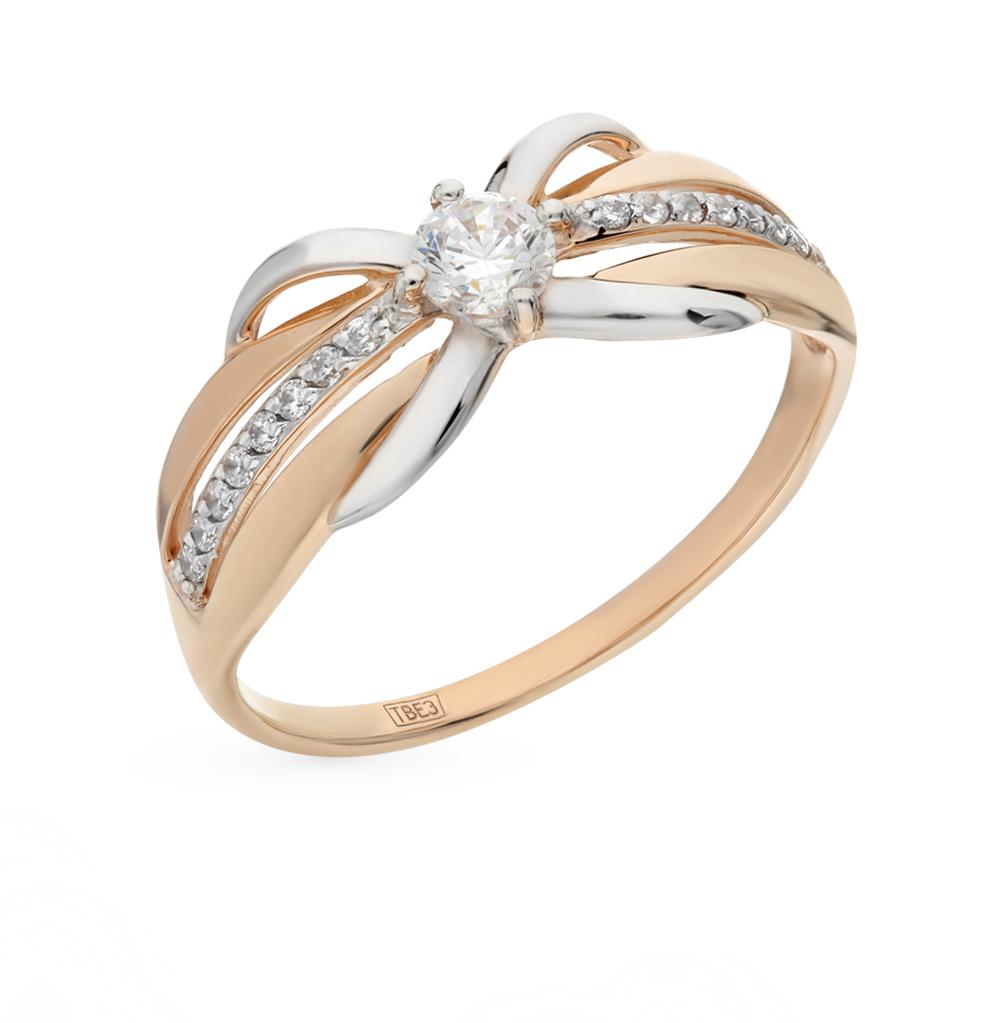 Фото «Золотое кольцо с фианитами SOKOLOV 017450*»