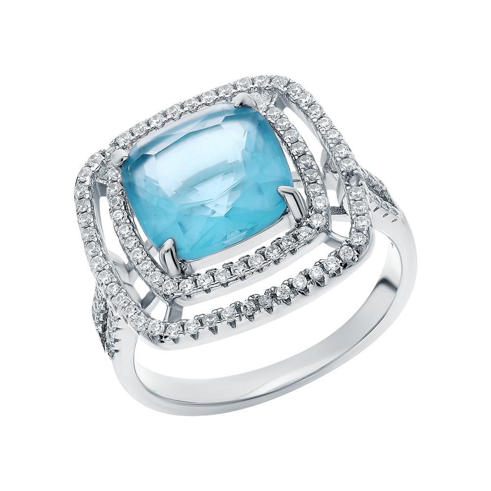 Серебряное кольцо с цирконием, ситаллами и кубическими циркониями в Екатеринбурге