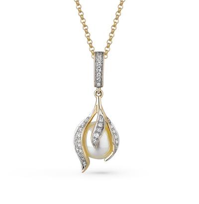 Фото «золото подвеска с жемчугом и бриллиантами»
