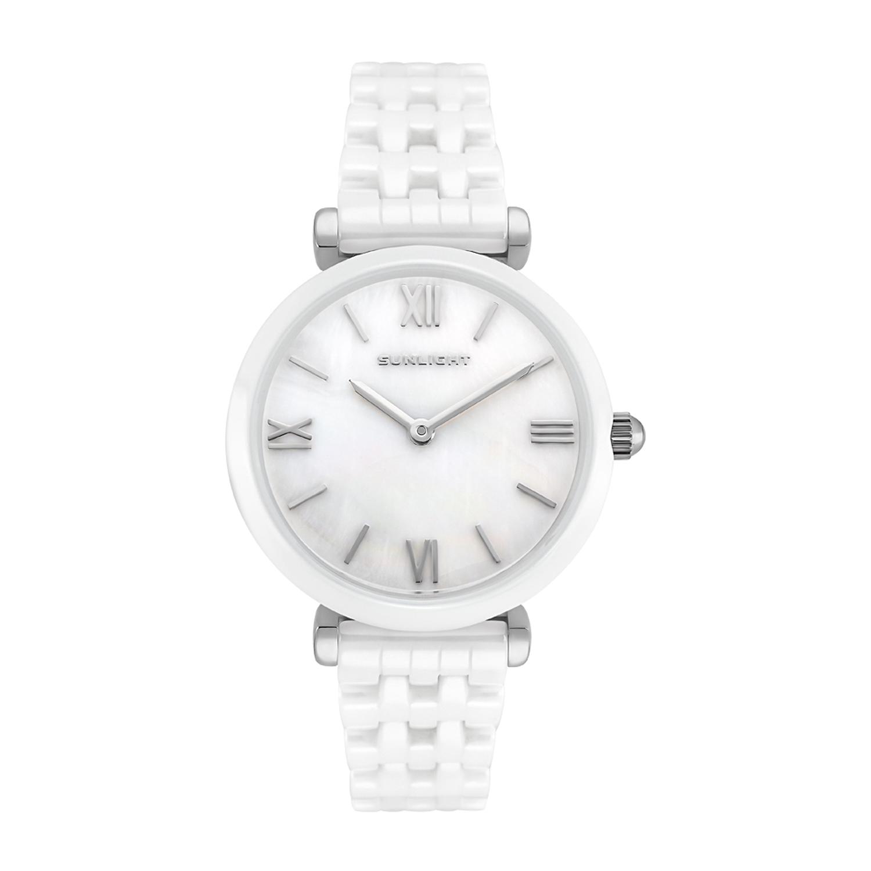 Керамические женские часы с перламутром на керамическом браслете в Екатеринбурге