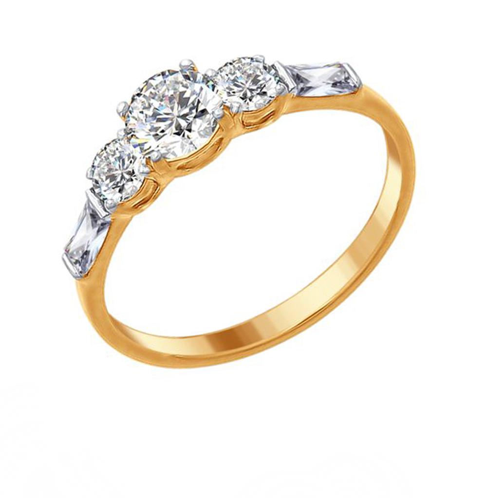 серебряное кольцо с фианитами SOKOLOV 89010078