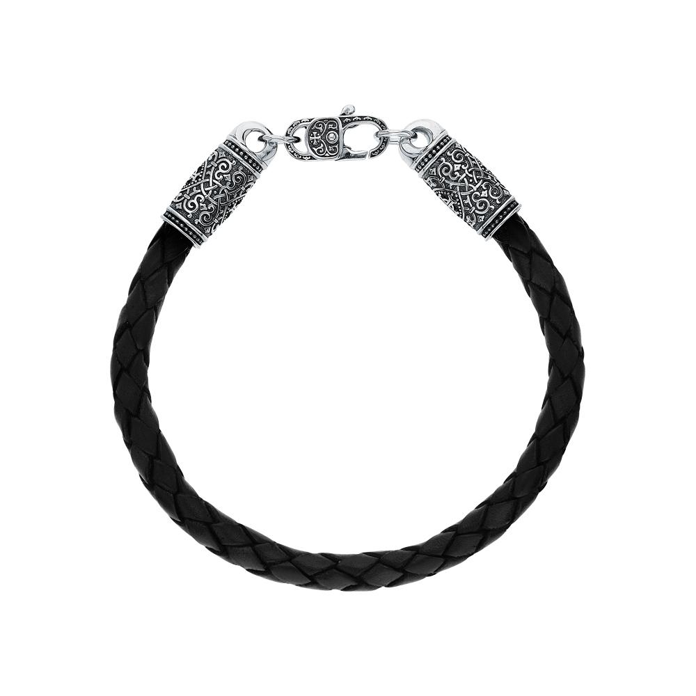 Фото «Кожаный браслет с серебром»