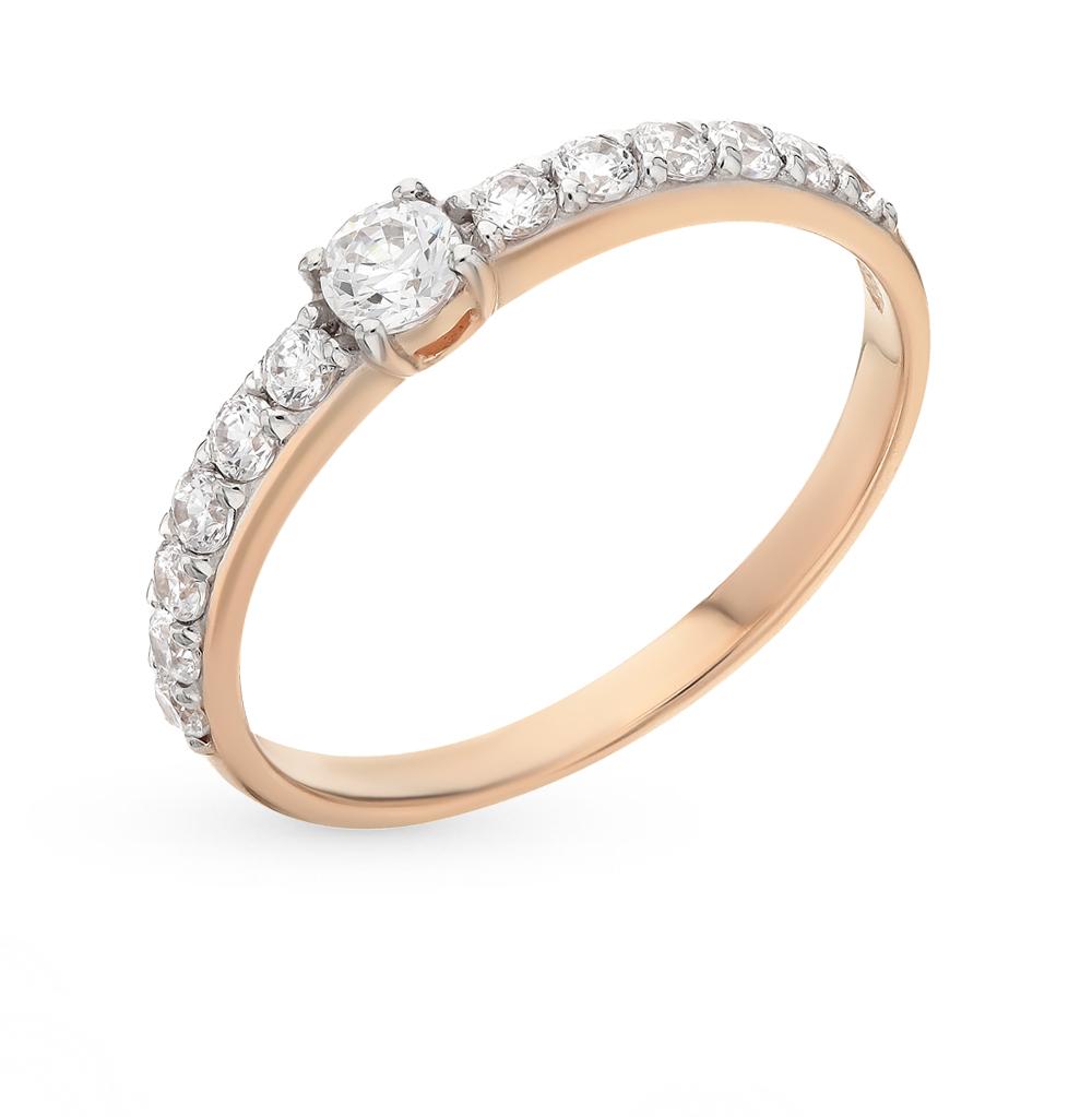 золотое кольцо с фианитами SOKOLOV 81010230*
