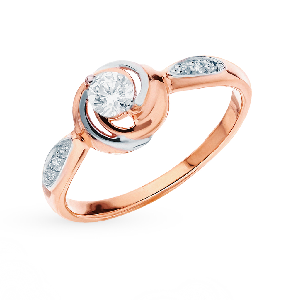 Фото «Золотое кольцо с фианитами SOKOLOV 51-110-00378-1*»