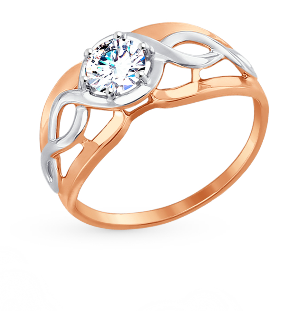 Фото «Золотое кольцо с фианитами SOKOLOV 017482*»