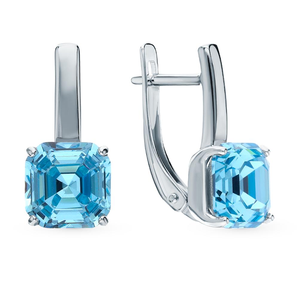 Серебряные серьги с кристаллами swarovski SOKOLOV 94024045 в Екатеринбурге