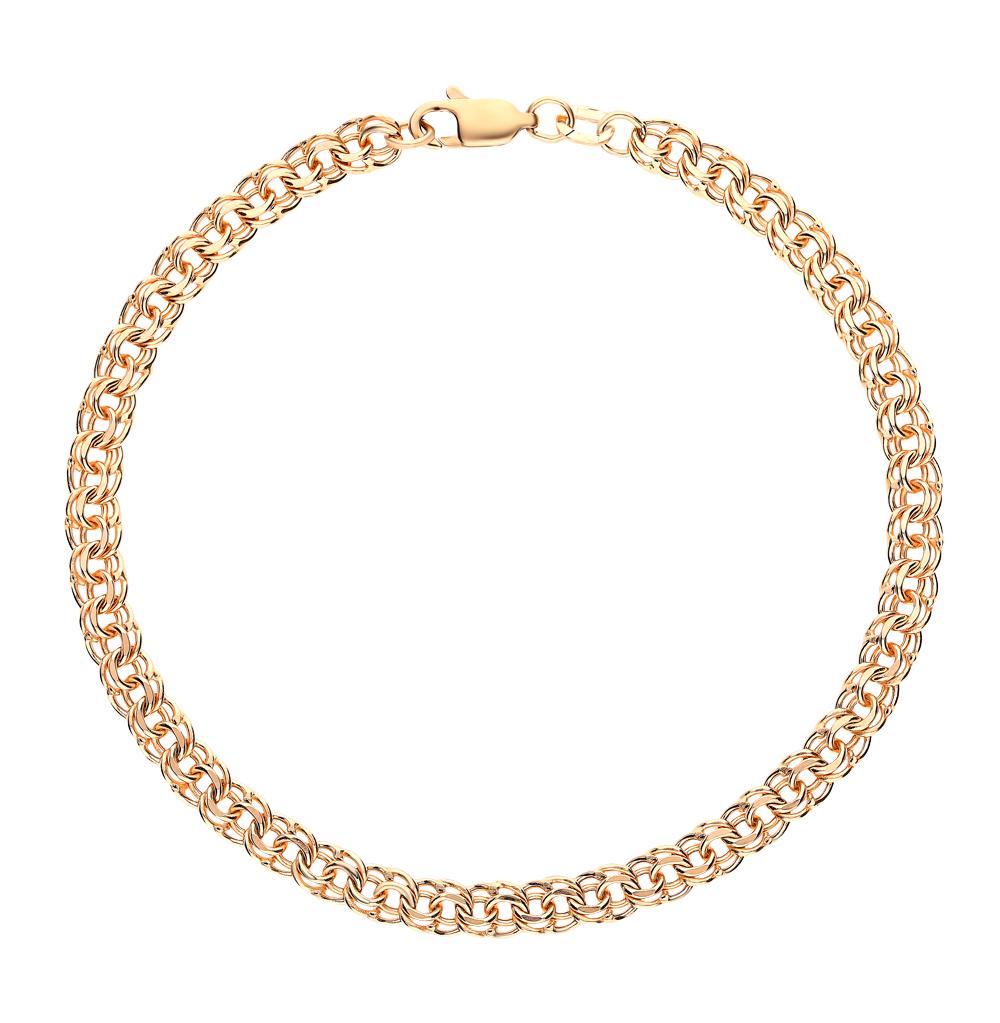 Золотой браслет КРАСЦВЕТМЕТ НБ 12-316ПГ 0,70   красное и розовое ... af4f2f1a933
