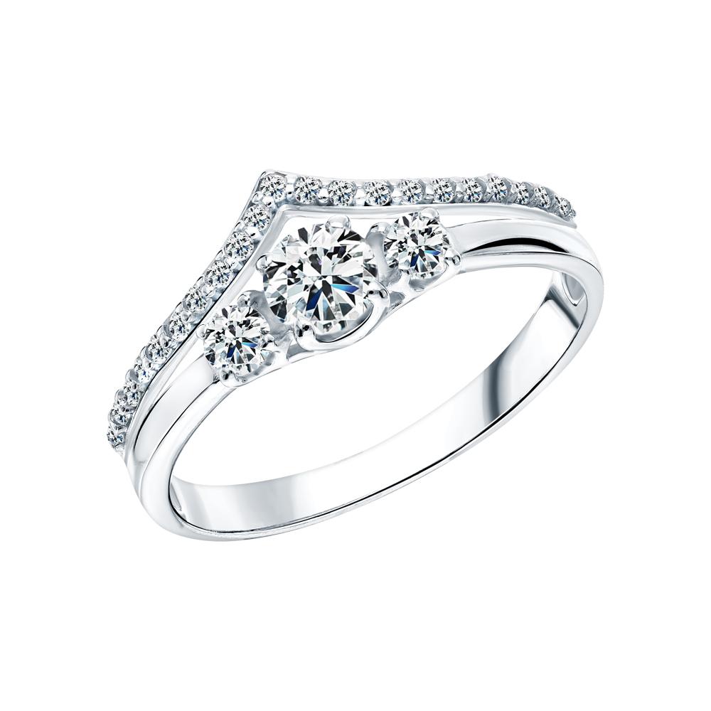 Фото «Серебряное кольцо с фианитами SOKOLOV 94012011»