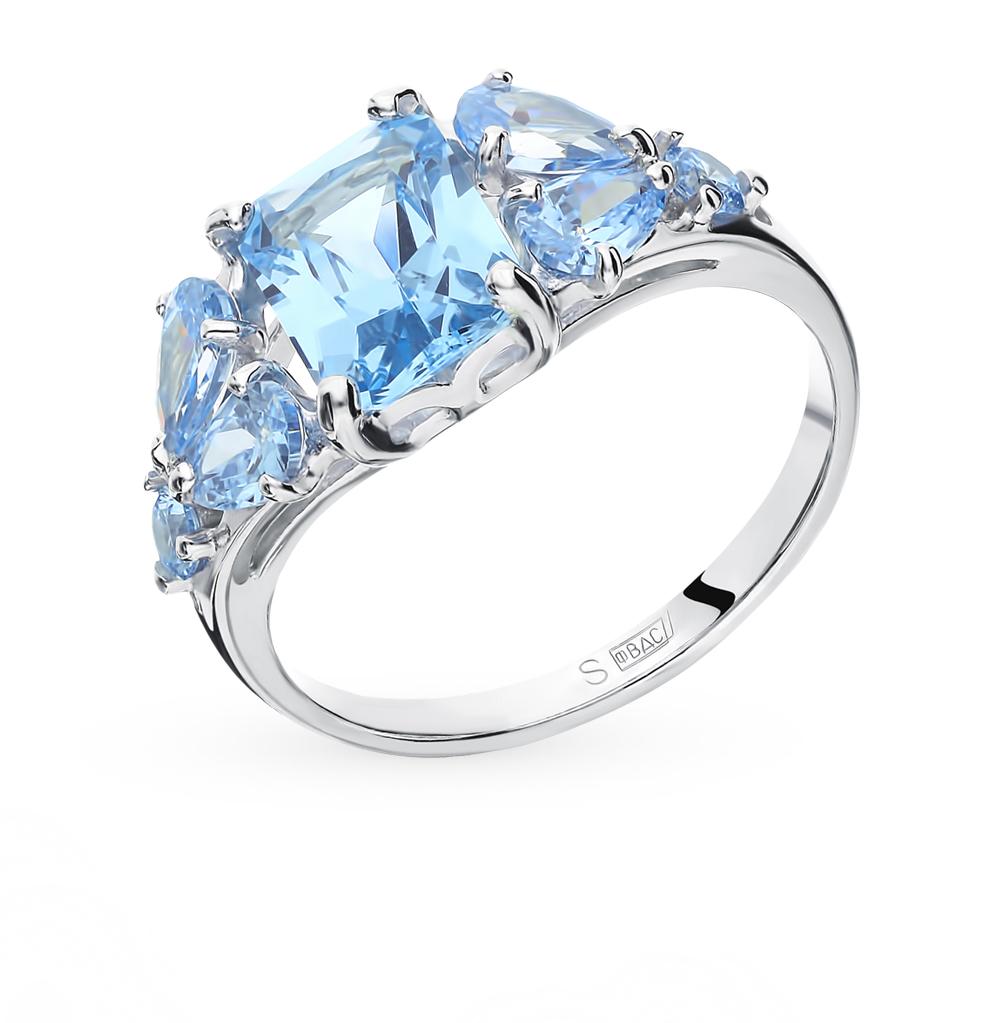 Фото «Серебряное кольцо с фианитами SOKOLOV 94012760»