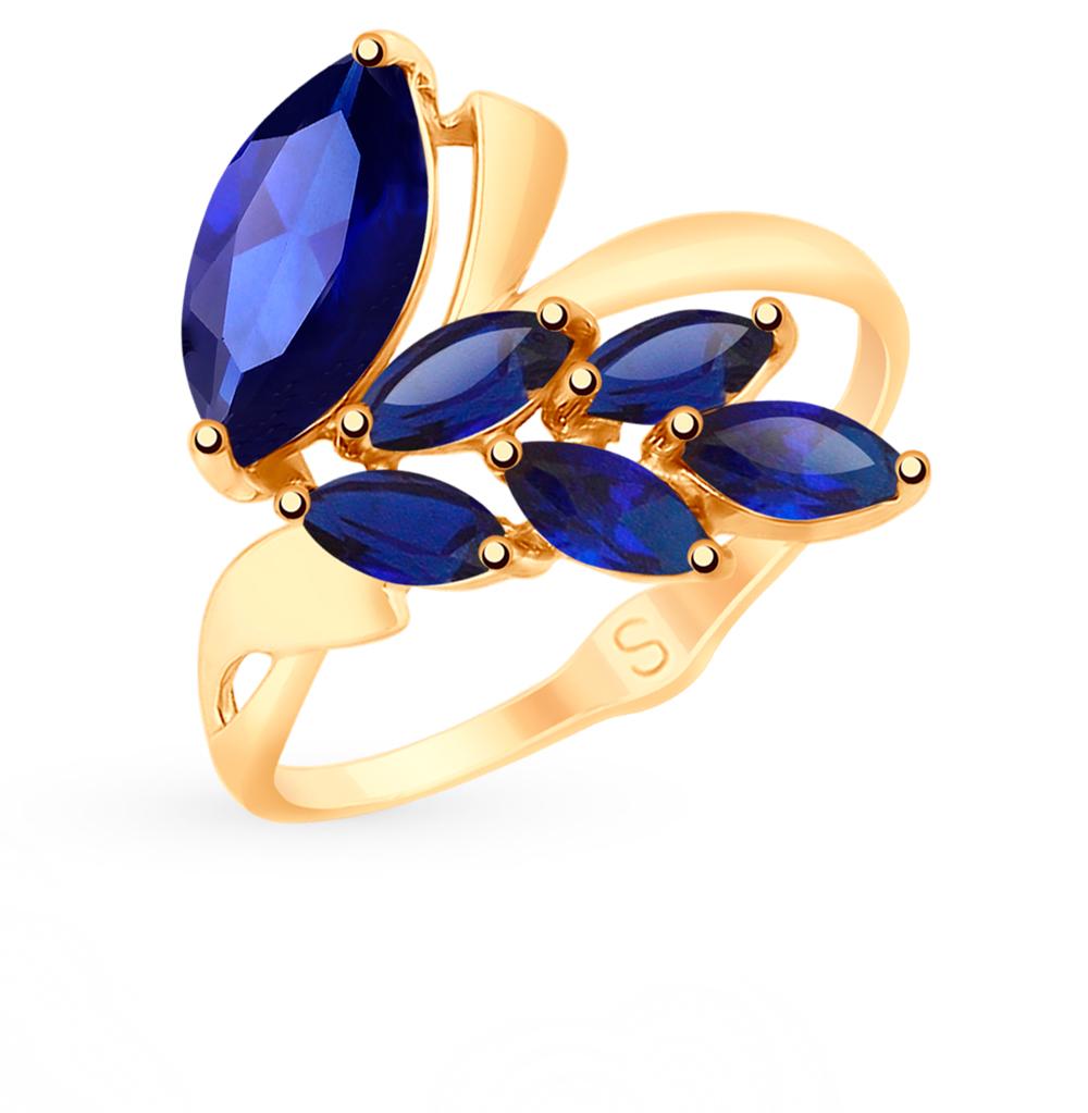 золотое кольцо с корундом SOKOLOV 715186*