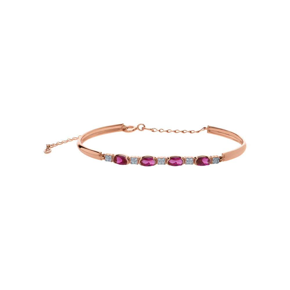 Золотой браслет с рубинами синтетическими и бриллиантами в Екатеринбурге