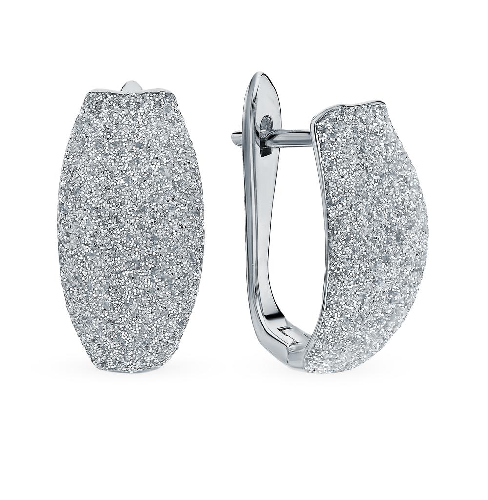 Фото «Серебряные серьги с глиттерами»