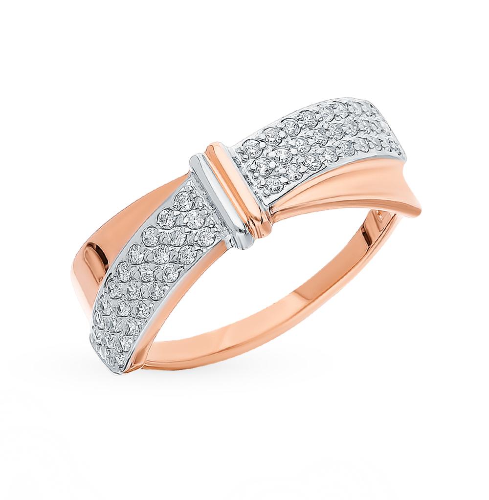 Золотое кольцо с фианитами SOKOLOV 018150* в Санкт-Петербурге