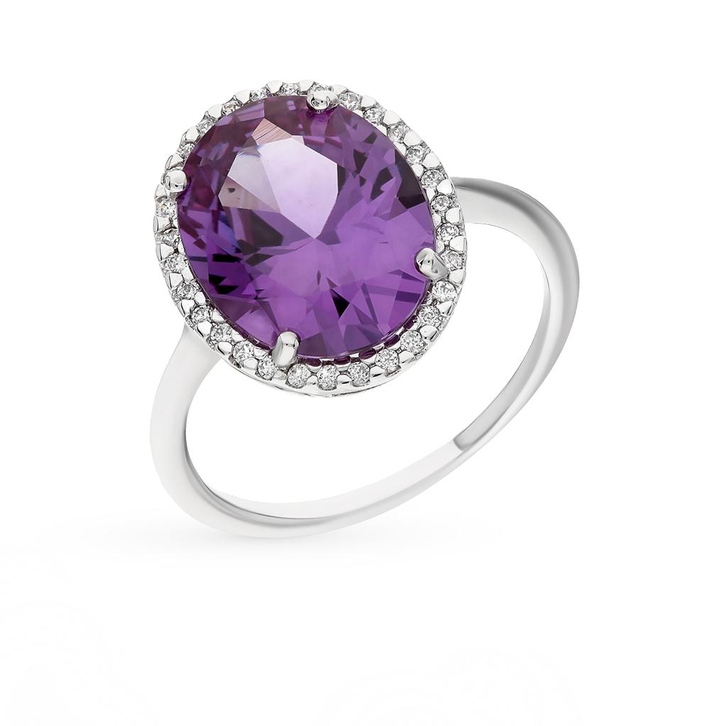 Фото «серебряное кольцо с александритом и фианитами»