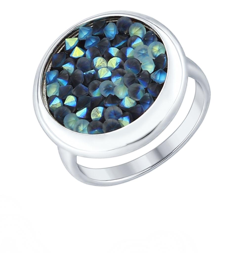 серебряное кольцо с кристаллами SOKOLOV 94012430
