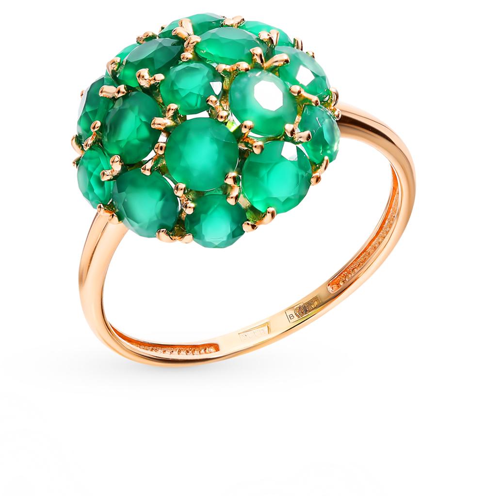 золотое кольцо с хризопразами