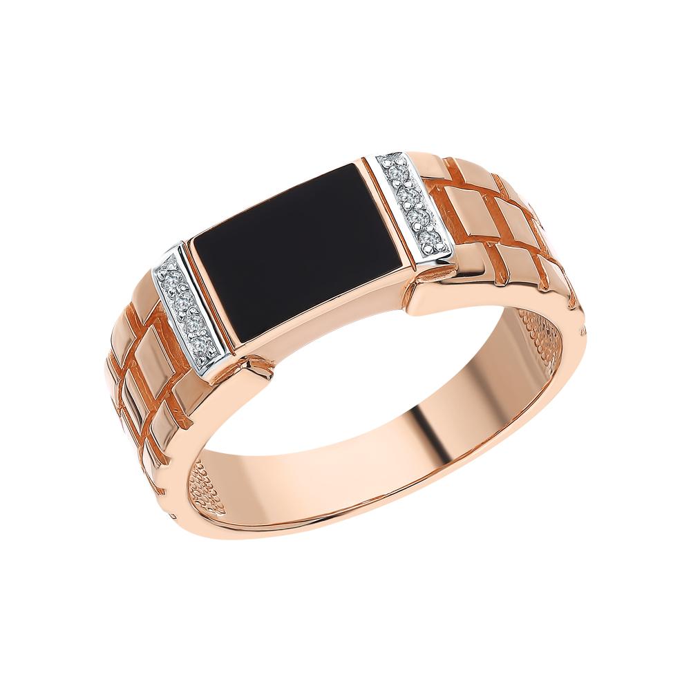 Фото «Золотое кольцо с фианитами SOKOLOV 015072*»