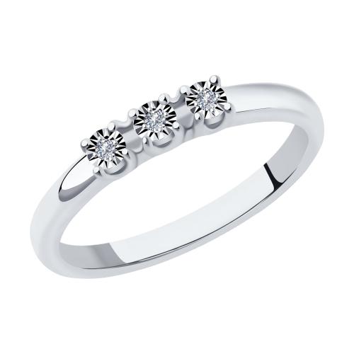 Фото «Золотое кольцо с бриллиантами SOKOLOV 1011875»