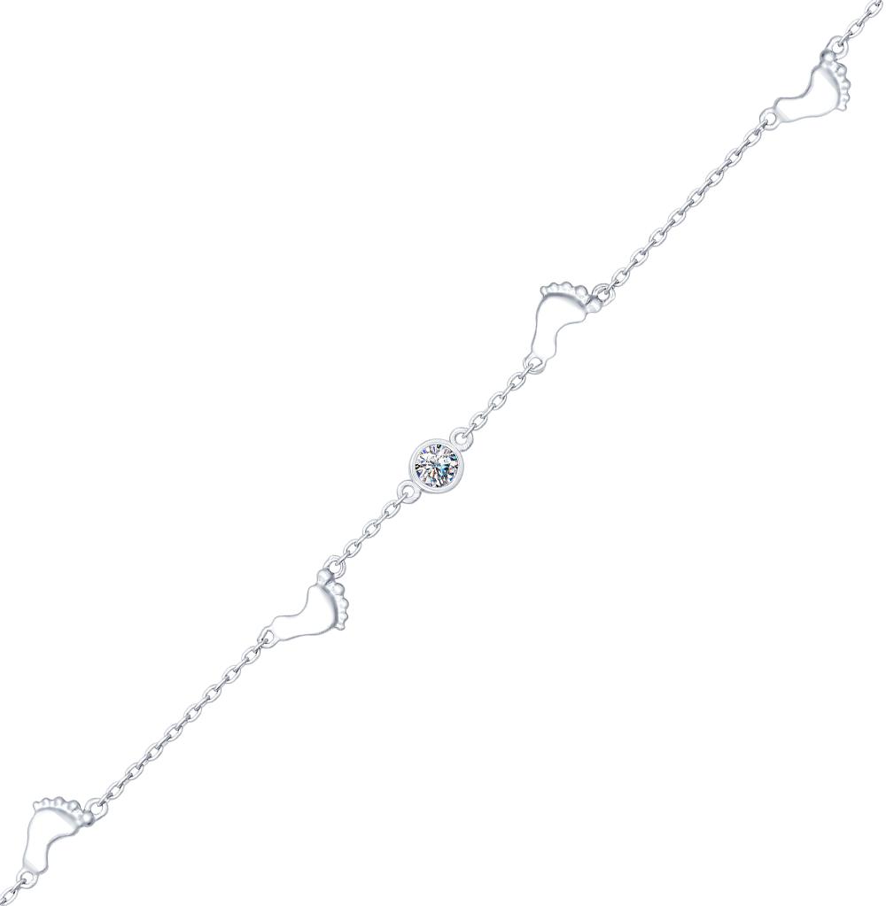 серебряный браслет с фианитами SOKOLOV 94050351