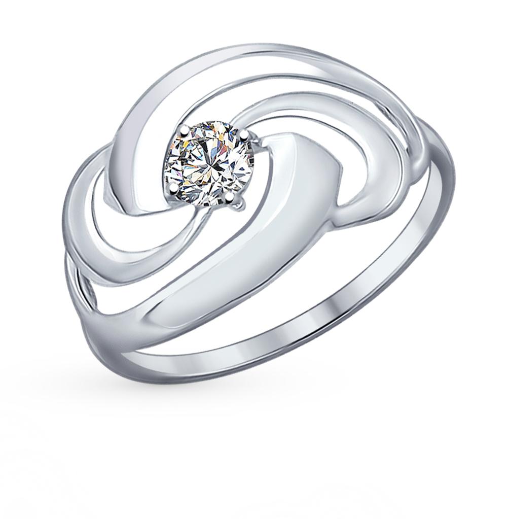 серебряное кольцо с фианитами SOKOLOV 94012159