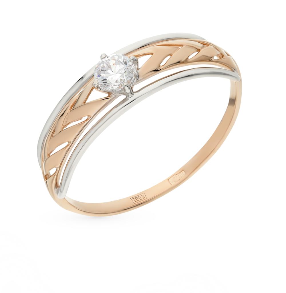Фото «Золотое кольцо с фианитами SOKOLOV 017517*»