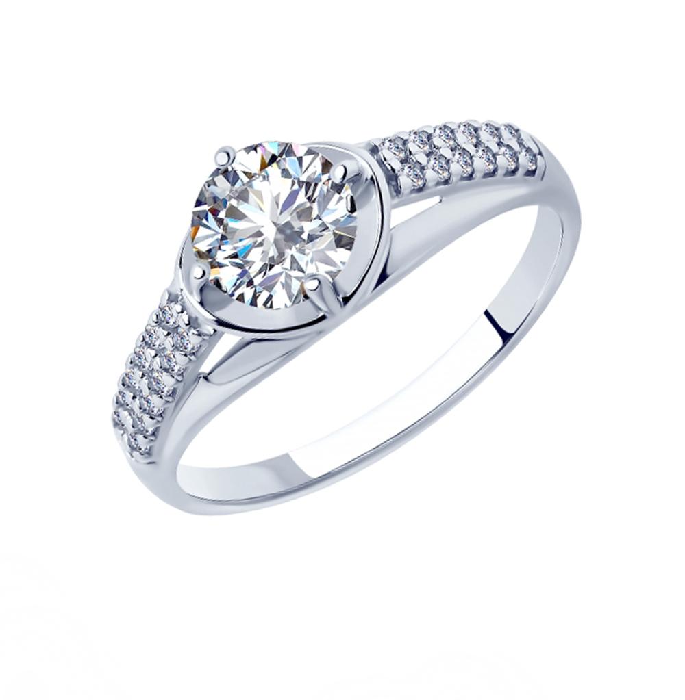 серебряное кольцо с фианитами SOKOLOV 94012877