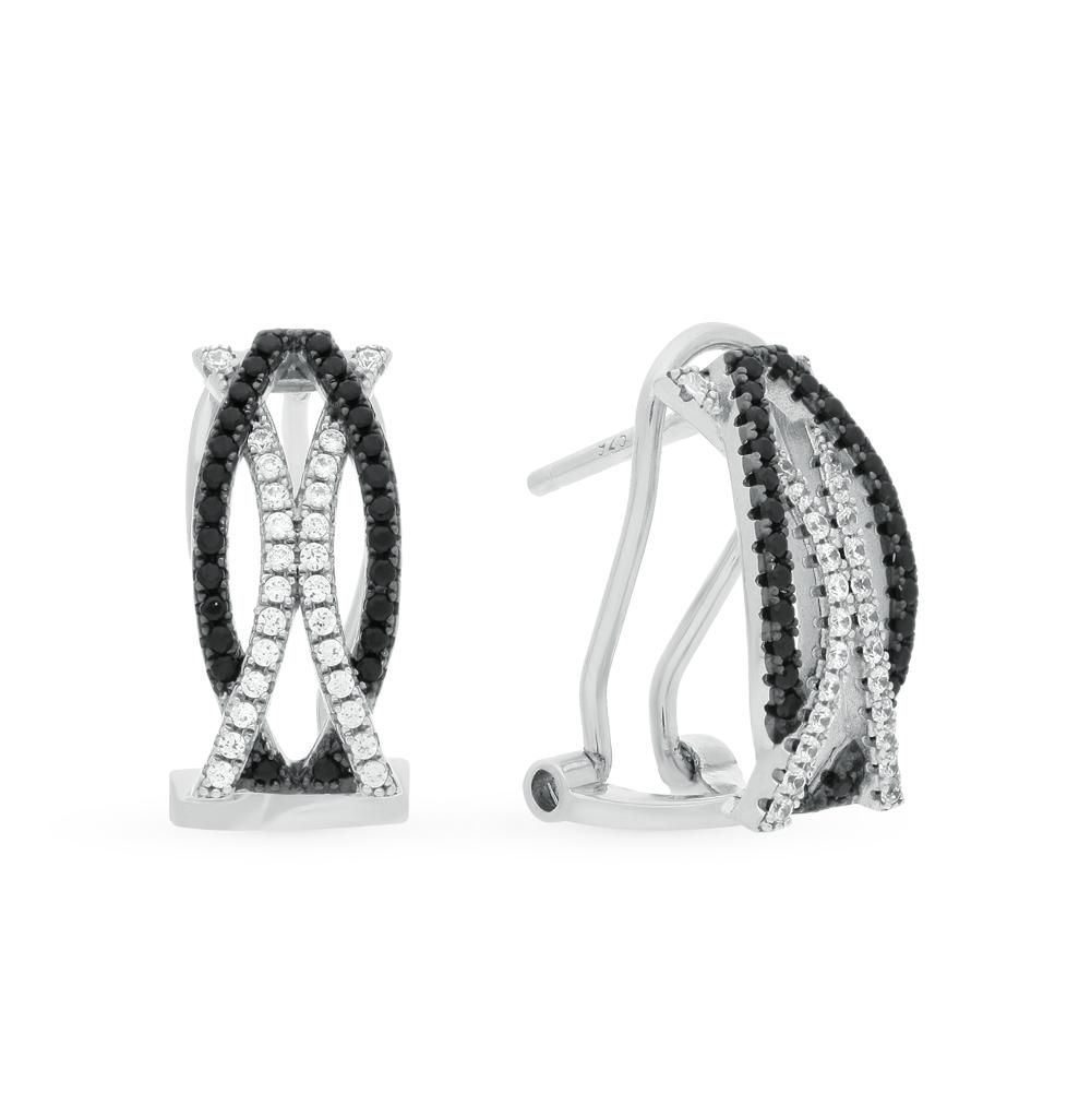 Фото «серебряные серьги с со шпинелью и фианитами»