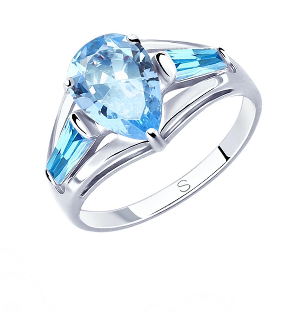 Фото «Серебряное кольцо с фианитами SOKOLOV 94012816»