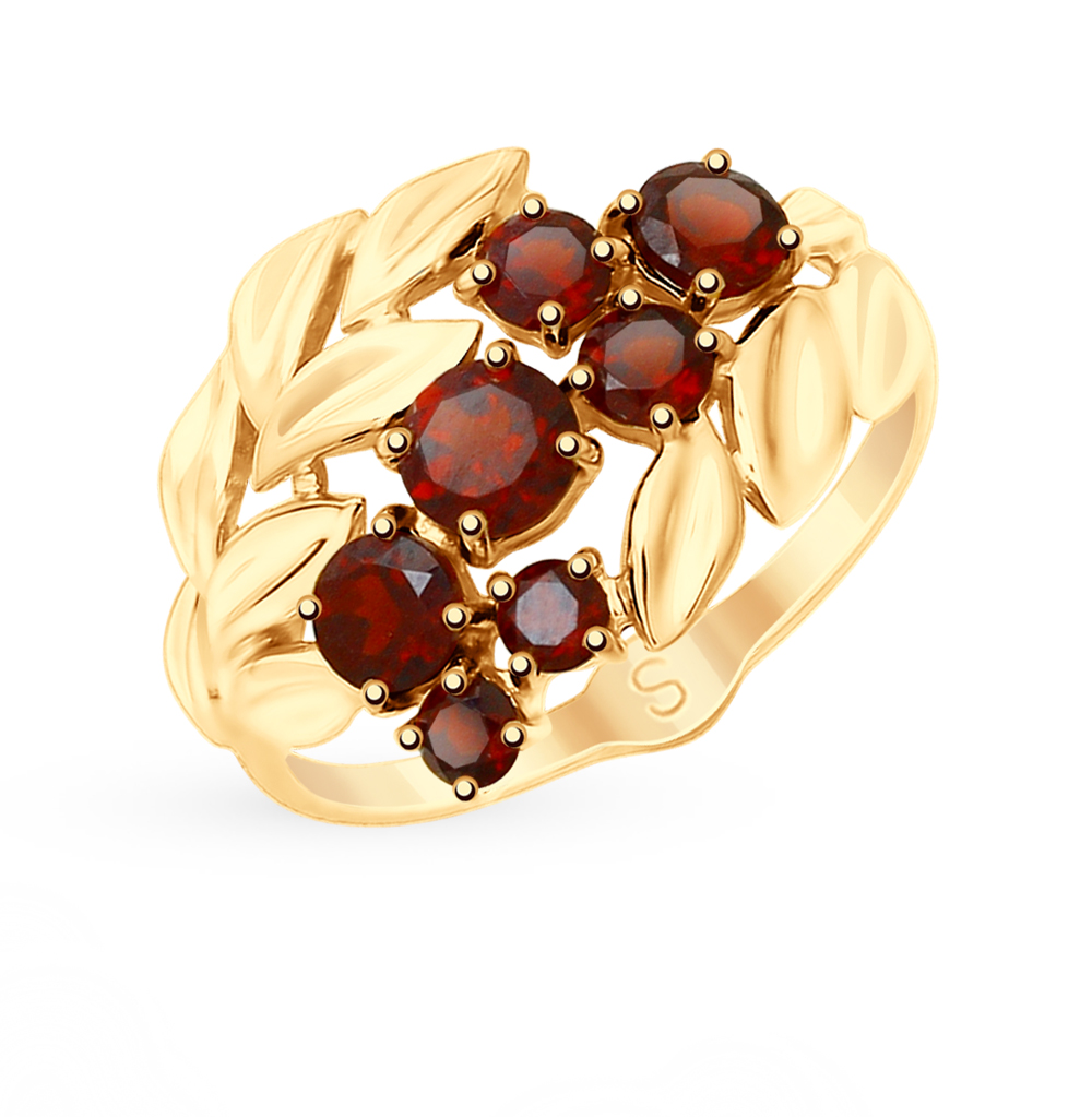 Фото «Золотое кольцо с гранатом SOKOLOV 715376*»