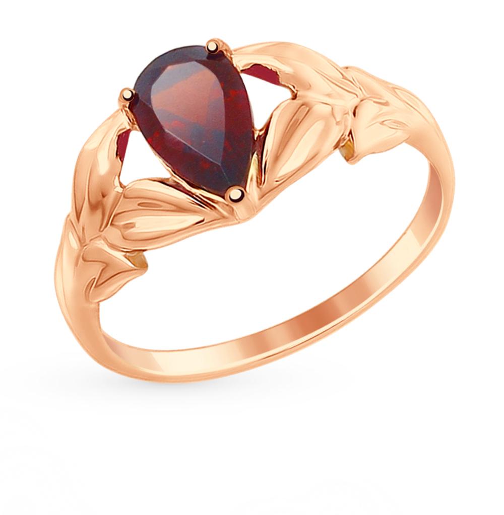 золотое кольцо с гранатом SOKOLOV 714865*