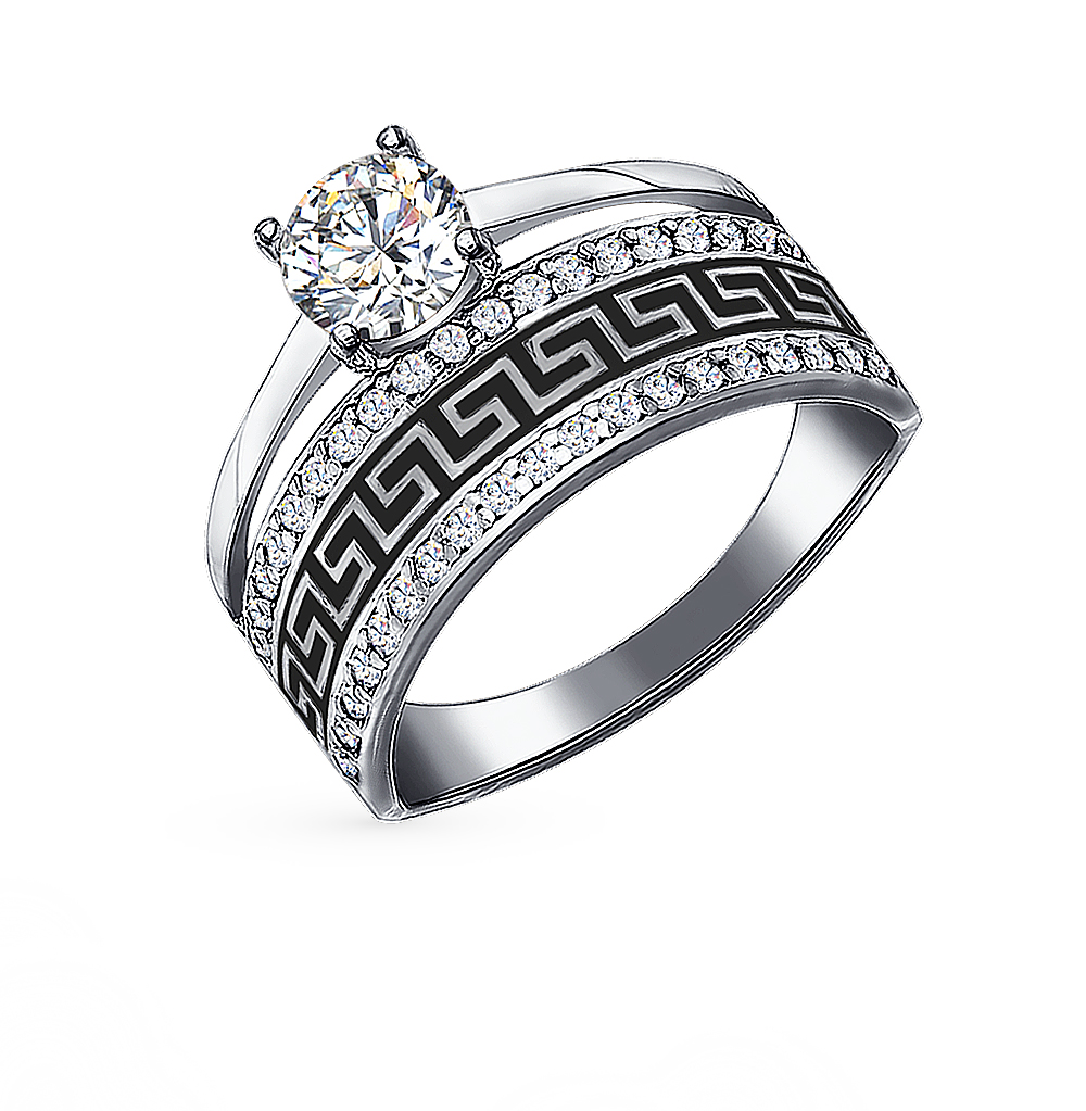 Серебряное кольцо с фианитами SOKOLOV 94011131 в Екатеринбурге