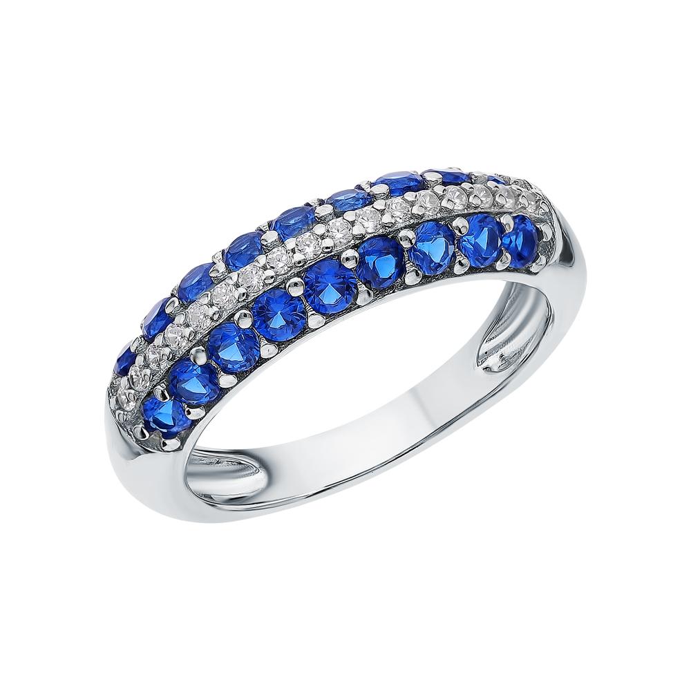Серебряное кольцо с шпинелями синтетическими в Екатеринбурге