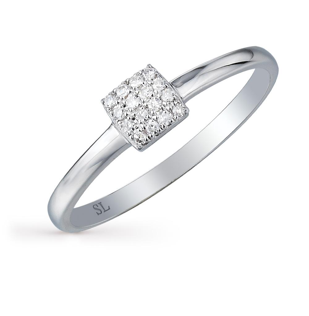 Золотое кольцо с бриллиантами SUNLIGHT  белое золото 585 пробы ... 3e87bf3cd8d