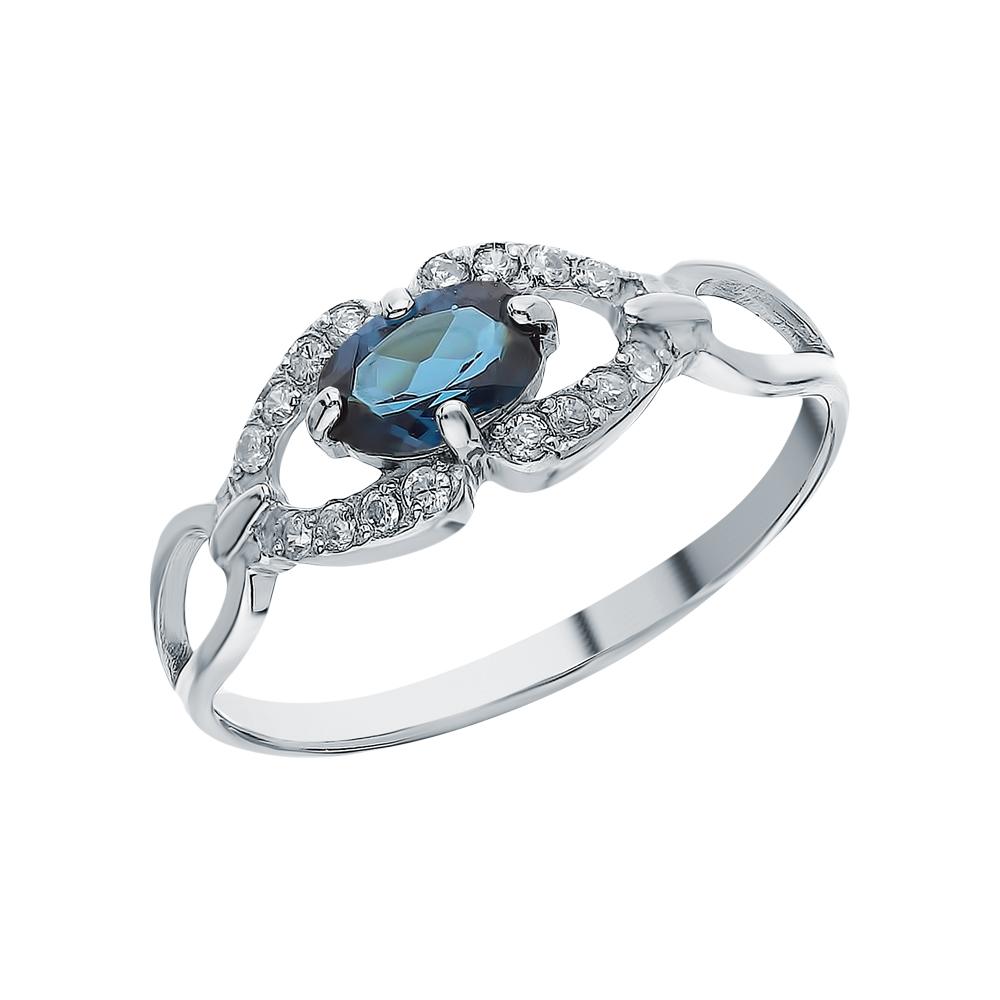 Фото «Серебряное кольцо с фианитами и лондонами топазами»