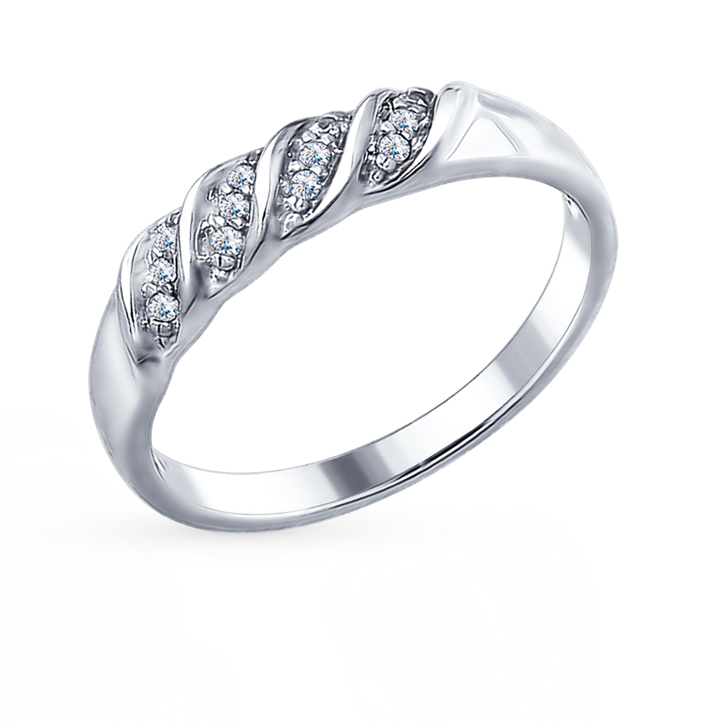 Фото «Серебряное кольцо с фианитами SOKOLOV 94012324»