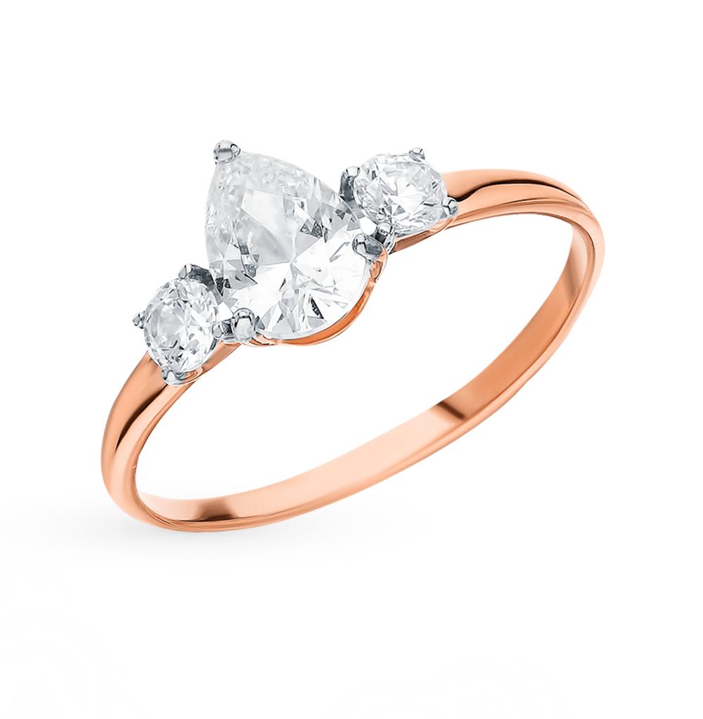 Фото «Золотое кольцо с фианитами SOKOLOV 81010410*»